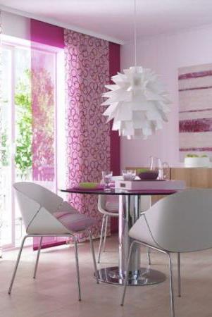 rózsaszín lapfüggöny