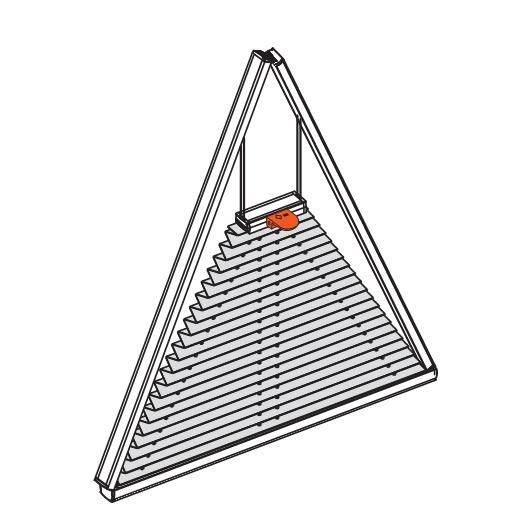 megoldás háromszög formájú ablakokra
