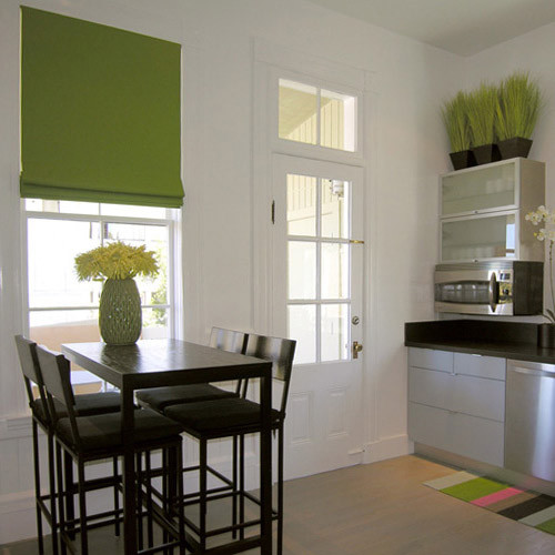 zöld modern roletta